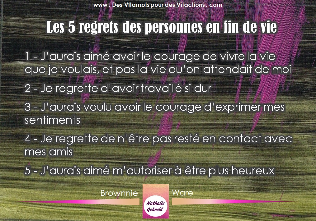Illustrations - 5 regrets de personnes en fin de vie